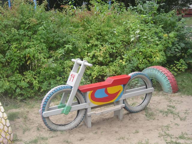 Мотоциклы на детской площадке своими руками фото 546